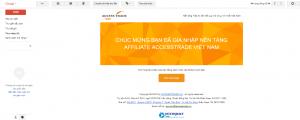 Email kích hoạt đăng ký tài khoản Accesstrade.