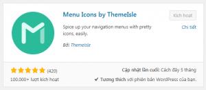 Chèn icon vào Menu trong WordPress.