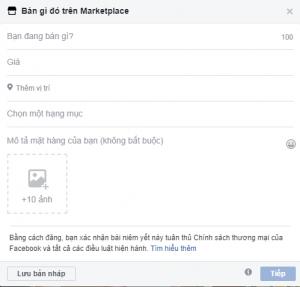 Bán hàng trên Facebook Marketplace