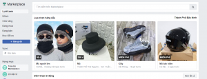 Giao diện Facebook Marketplace