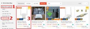 Tìm thị trường ngách thông qua các trang thương mại điện tử.